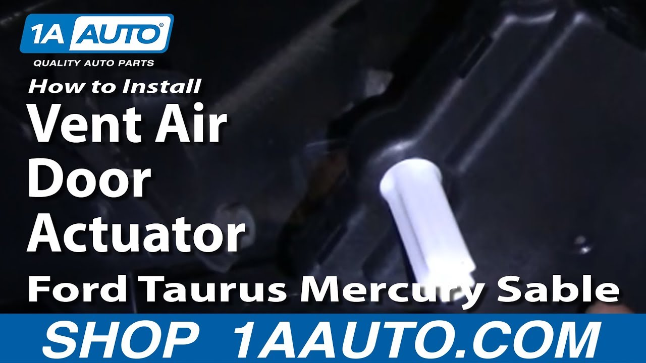 How To Install Replace Vent Air Door Actuator Ford Taurus Mercury Sable 9607 1AAuto  YouTube