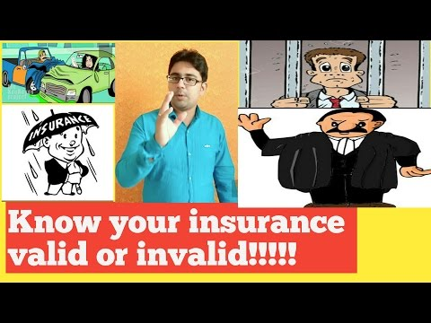 |valid vs invalid vehicle insurance||valid or invalid conditions of insurance| in hindi