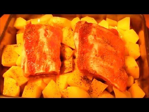 что приготовить в духовке из мяса и картошки