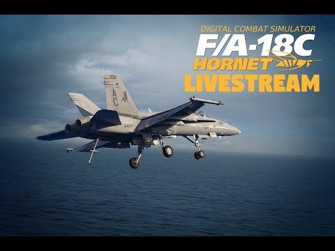 DCS F/A-18C LIVESTREAM   AAR & CARRIER LANDING TRAINING [EARLY ACCESS]