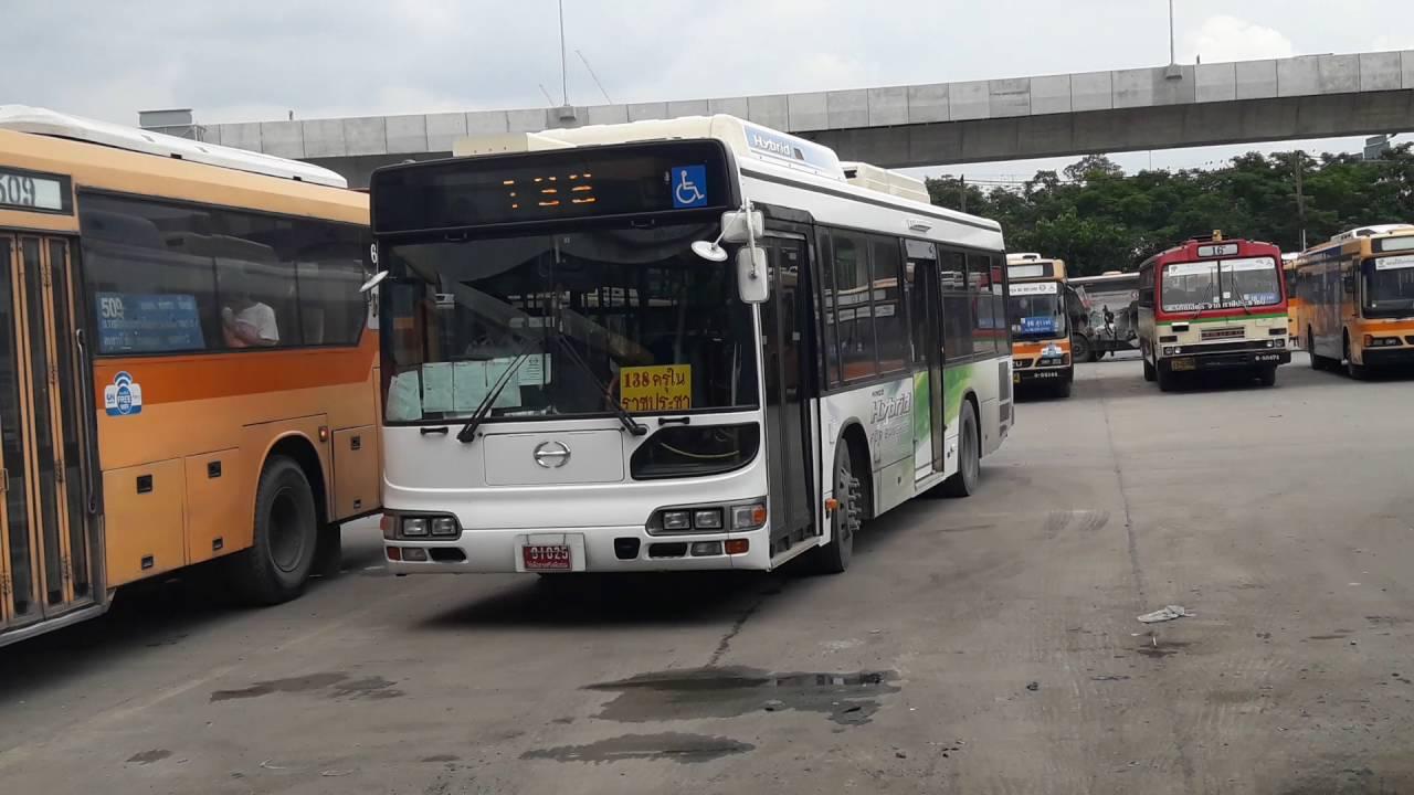 (BMTA) Hino HU8JLGP Hybrid bus Route 138 (HD Quality)