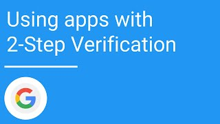 Using apps with 2-Step Verification thumbnail