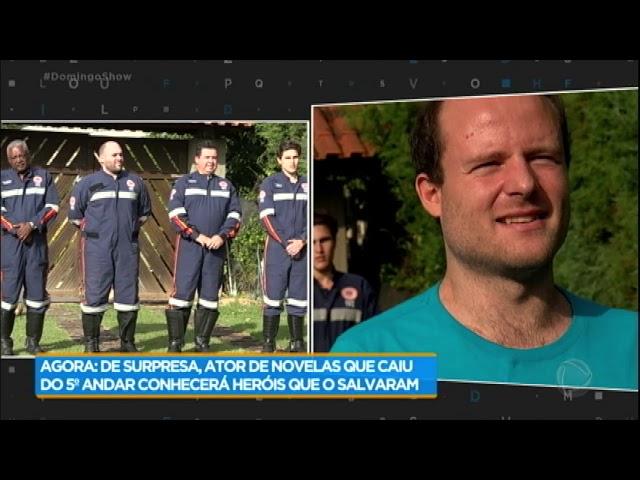 Vitor Morosini conhece socorristas que o salvaram após queda em hotel