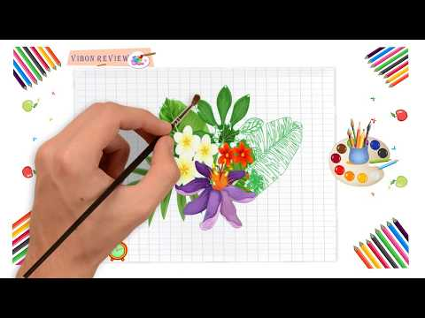 how-to-draw-and-coloring-flower-easy-step-by-step-|-vibon-review