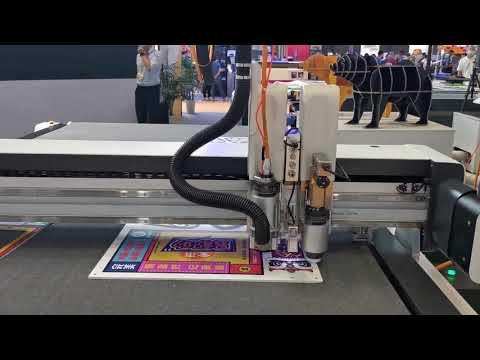 IECHO BK4 KT board cutting at the APPO EXPO
