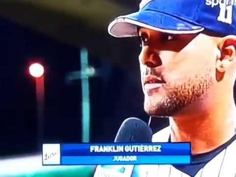 Entrevista a Franklin Gutierrez Final del juego Leones-Aguilas