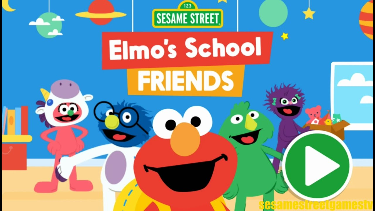 Sesame Street Elmo's School Friends Interactive Kids Games ...