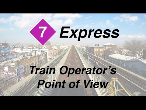 ⁴ᴷ NYC Subway Train Operator's Point of View - The Queens-Bound 7 Express Line