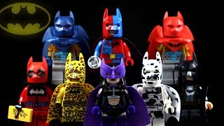 Knightfall Batman Azrael Huntress Batpool & Two-Face Batman Unofficial LEGO Minifigures