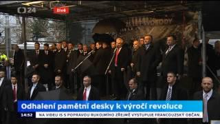 Vypískanej Miloš Zeman na Albertově - 17.11. 2014