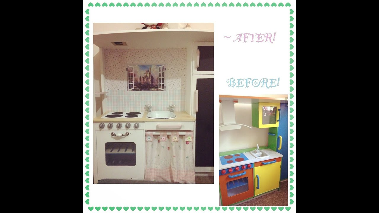 DIY Kids Play Kitchen Makeover - YouTube