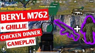 Beryl M762 Gameplay   I Got Beryl M762 + Ghillie = Chicken Dinner   Bot In The Last Circle