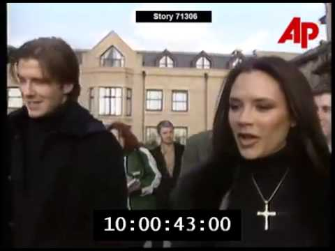 Victoria & David Beckham Announce Engagement (Press Conference)