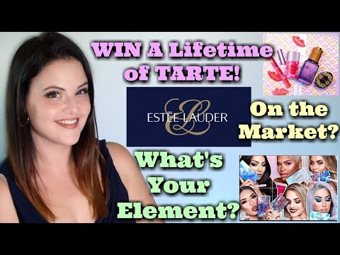 What's Up in Makeup NEWS! Tarte's $50,000 Makeup Prize! Estee Lauder Brands 4 Sale? NYX Elements!