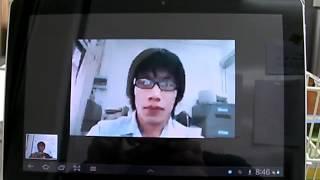 video call by skype ในห้องทำงาน