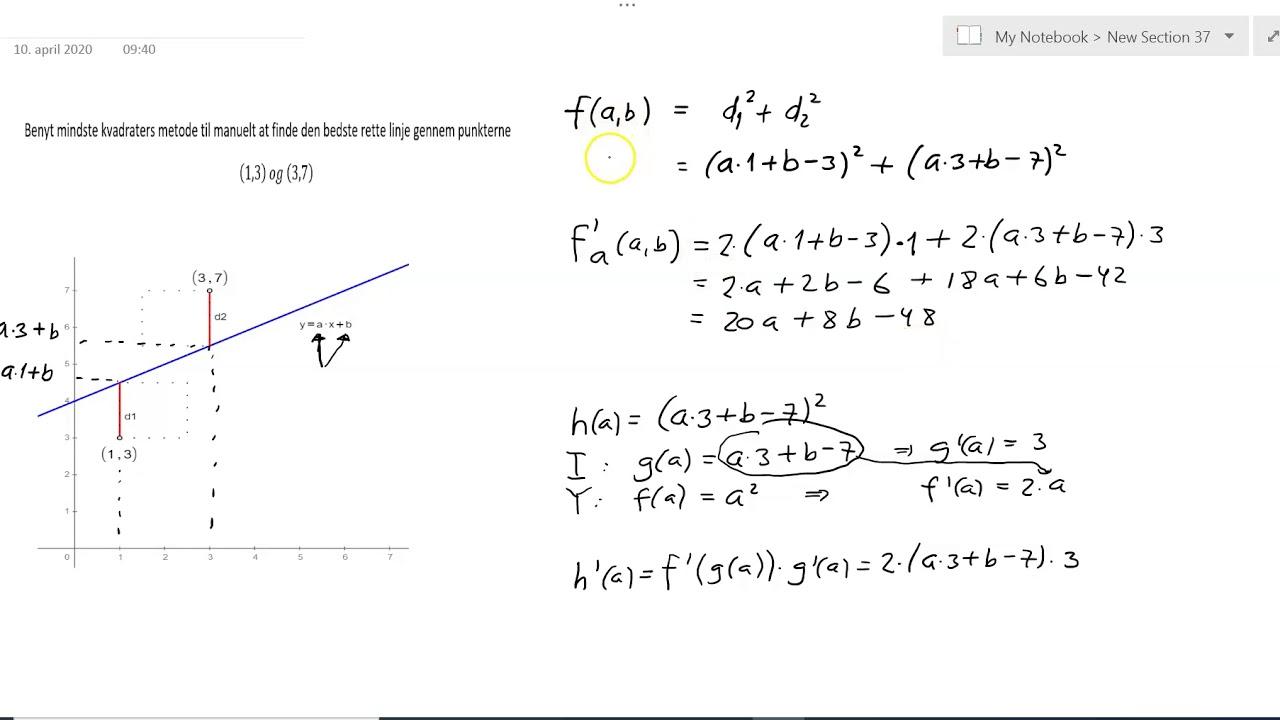 Lineær regression - Manuel udregning