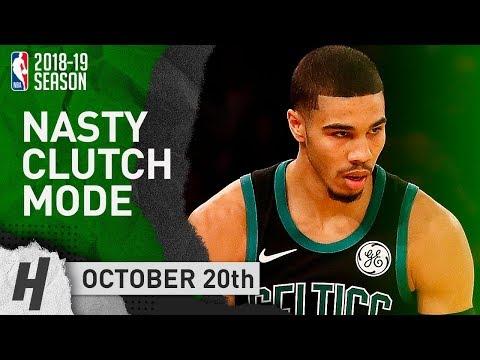 Jason Tatum CLUTCH Full Highlights Celtics vs Knicks 2018.10.20 - 24 Pts, 14 Reb