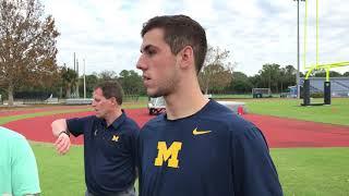 Michigan's Brandon Peters talks Shea Patterson transfer