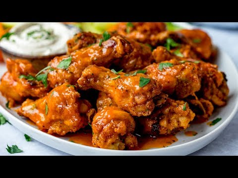 Buffalo Chicken Wings Super Crispy Wings with a Super easy blue cheese sauce!