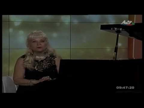 Adilia Alieva - pianiste, Emission on AZ TV in Bakou 20.07