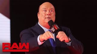 "Paul Heyman interrupts Seth Rollins during his appearance on ""Miz TV"": Raw Reunion, July 22, 2019"