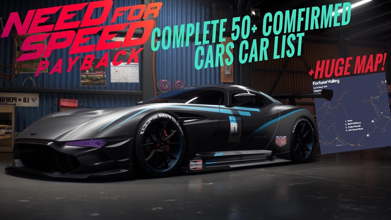 Nfs movie cars used