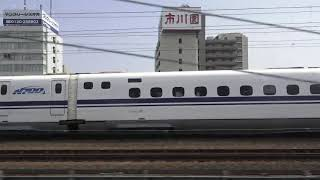 【新幹線を追い越し追い越される】東海道本線211系普通列車浜松行き「静岡ー安倍川」《左側側面展望》