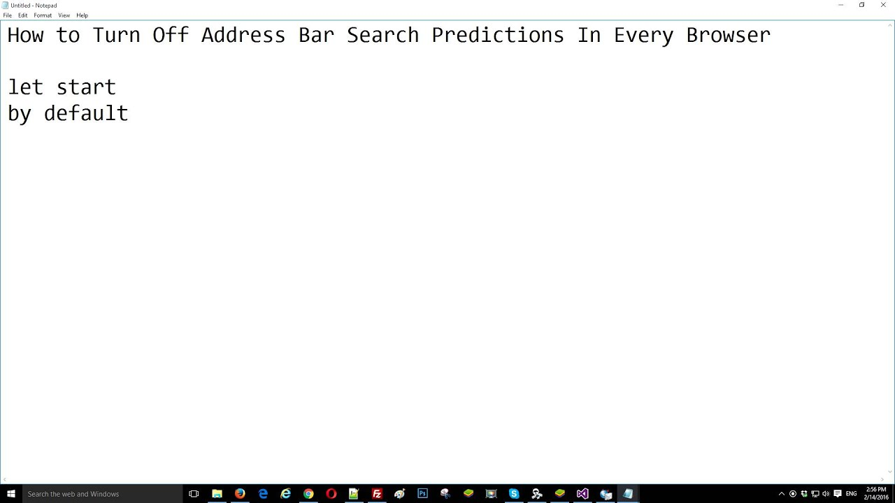 How to Turn Off Address Bar Search Predictions In Every Browser