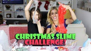 Christmas Slime Challenge with Rebecca Zamolo  Hayley LeBlanc
