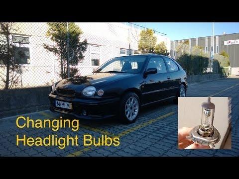 1997-1999 Toyota Corolla : How to replace headlight bulbs