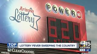 Lottery fever sweeping the country as record-setting jackpots rise