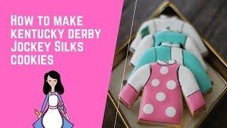 How to make Kentucky derby jockey  silks cookies
