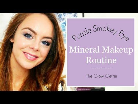 Purple Smokey Eye Mineral Makeup Tutorial