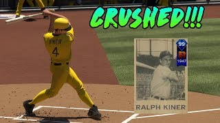 99 Ralph Kiner DESTROYS the Ball!! MLB The Show 17 Diamond Dynasty