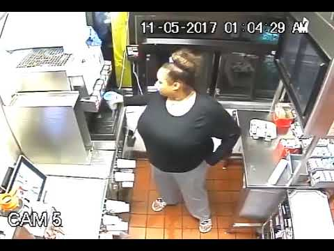 Woman wanted for stealing money, food from McDonald's