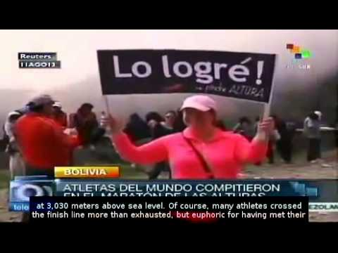 In Bolivia, a marathon at 3,000 meters above sea level