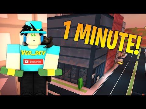 ROB JEWELRY STORE IN 1 MINUTE! (Roblox Jailbreak)