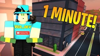 ROB JEWELRY STORE IN 1 MINUTE! (Roblox Jailbreak)