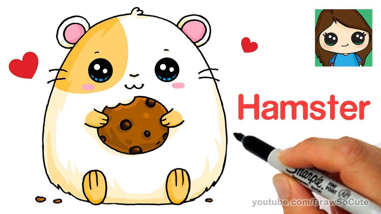 Uncategorized How To Draw A Cute Hamster how to draw a hamster super easy youtube easy