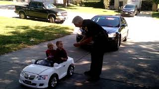 Portage Police Chief pulls over kids in toy car