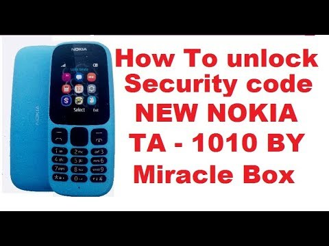 nokia 105/ta 1010/mtk cpu/security unlock done/by/miracle box