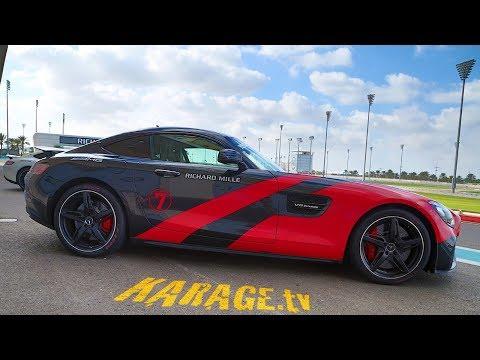 Driving a Mercedes AMG GTS on Yas Marina Circuit