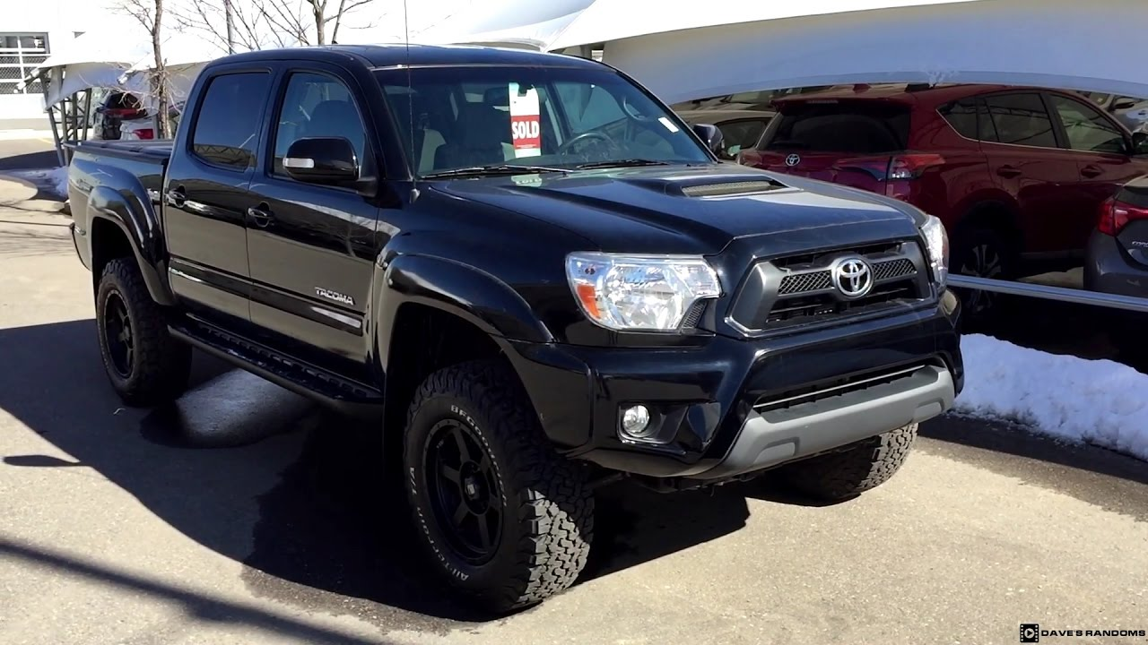 Lifted 2015 Toyota Tacoma Double Cab on 265/70R17 Tires ...