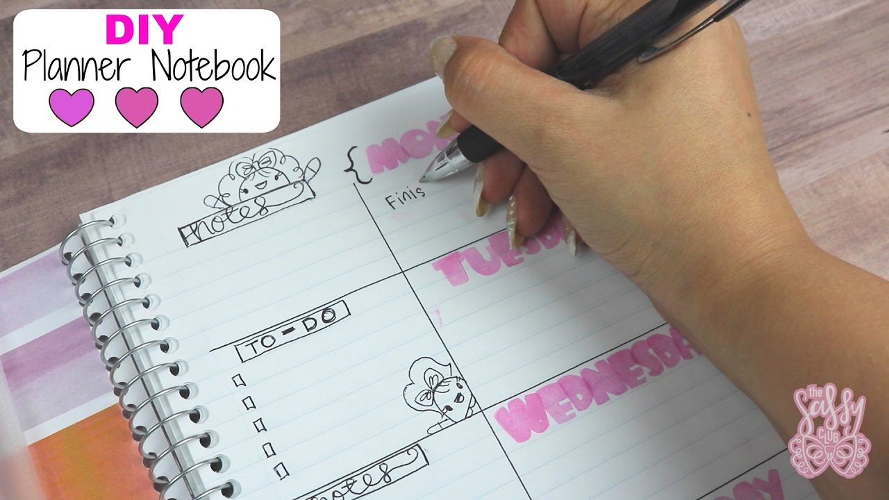 diy planner notebook easy budget friendly youtube
