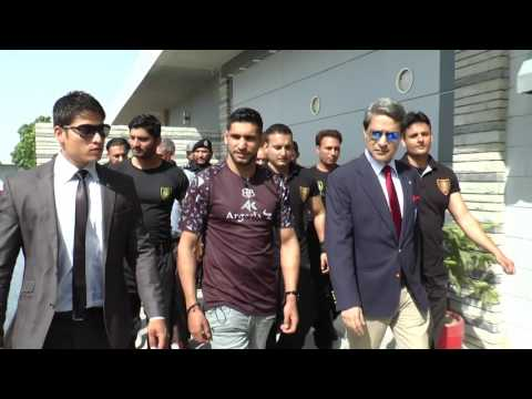 British Professional Boxer Amir Khan visit to Headquarter of SSU 02.06.2016