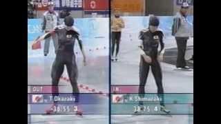 岡崎朋美 銅メダル' 98年長野五輪 スピードスケート女子500m