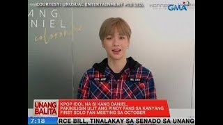 UB: Kpop idol na si Kang Daniel, pakikiligin ulit ang Pinoy fans sa October