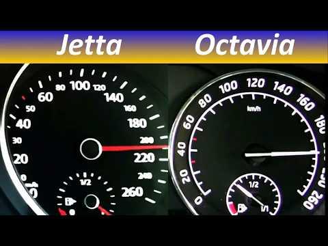 Volkswagen Jetta 2.0 TDI vs Skoda Octavia 2.0 TDI top Speed test