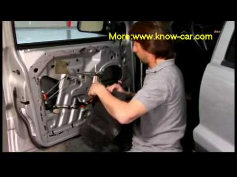 Auto repair videos: Installing a Manual Window Regulator