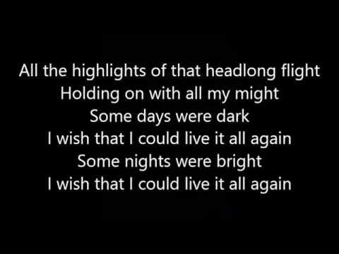 Rush - Headlong Flight (Lyrics)